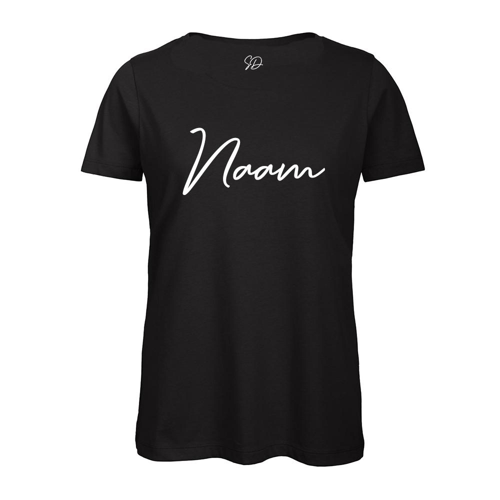 Algemeen Naam Achterkant T-Shirt Turnshirt Zwart Sparkle & Dream 1