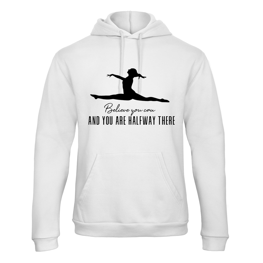 Believe You Can Hoodie Trui Turnshirt Wit Sparkle & Dream