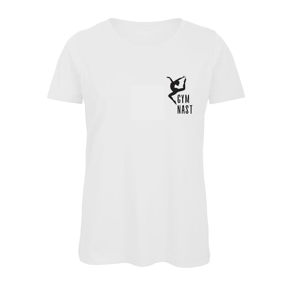 Gymnast T-Shirt Turnshirt Wit Sparkle & Dream