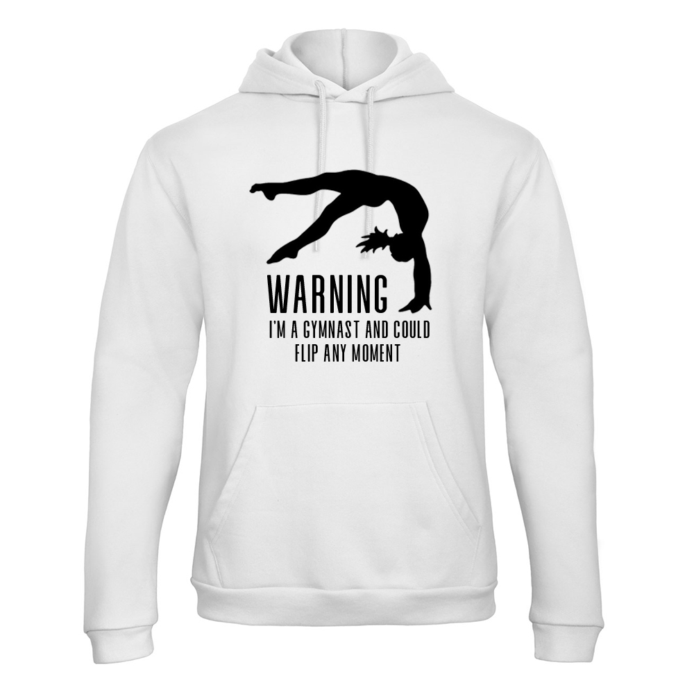 Warning Gymnast Hoodie Trui Turnshirt Wit Sparkle & Dream